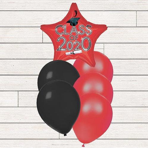 Red 2020 Grad Balloon Bouquet