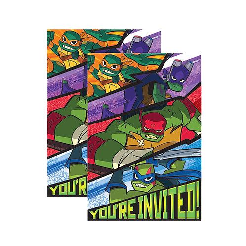 Rise of TMNT Invitations x2 (16ct.)