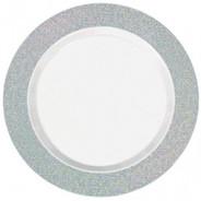 Silver Sparkle Premium Plastic