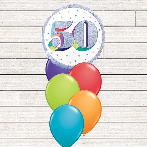 50th Multi Milestone Balloon Bouquet