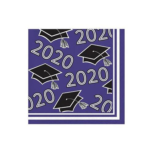 2020 Purple Grad Beverage Napkins 36ct.