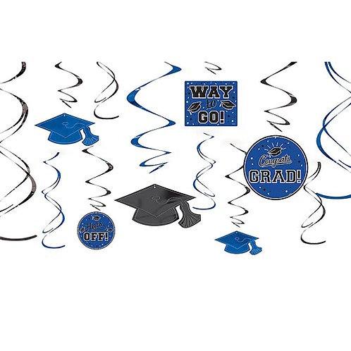 Blue Grad Swirls 12ct.