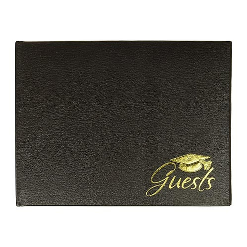 Black & Gold Hot Stamped Guest Book