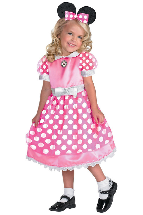 Pink Minnie Mouse Girl's Costume