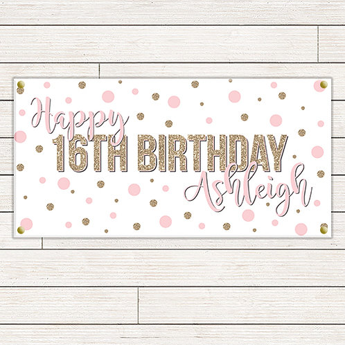 Dots Birthday 2'x4' Banner