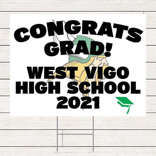 Basic West Vigo Grad Yard Sign
