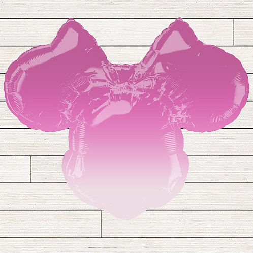 Minnie Mouse Ombre Mylar Balloon