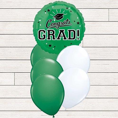 Green Grad Balloon Bouquet