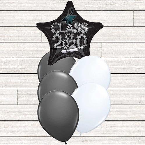 Black 2020 Grad Balloon Bouquet