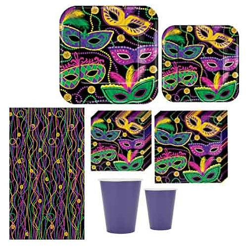 Mardi Gras Tableware Kit