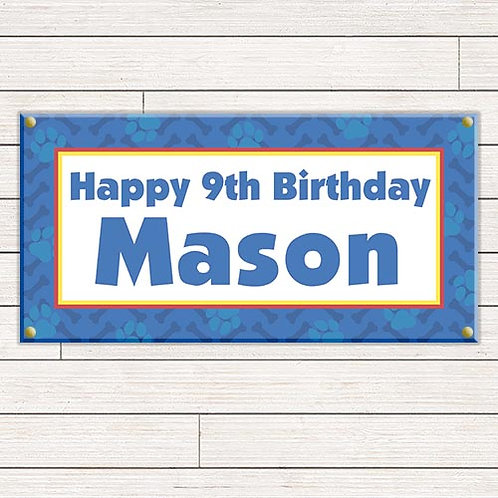 Personalized 2'x4' Paw Patrol Banner