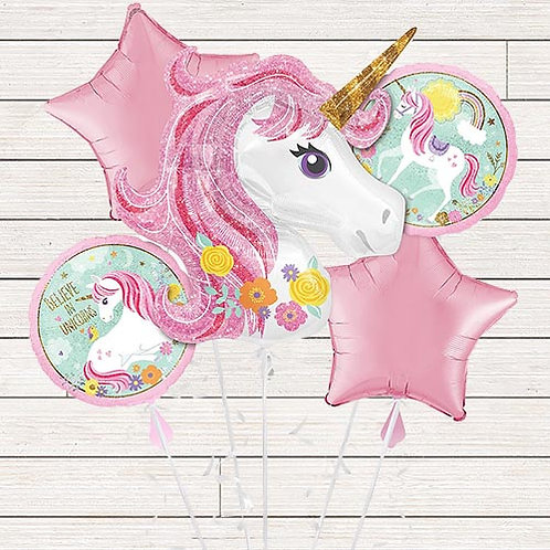 Believe in Unicorns Mylar Balloon Bundle