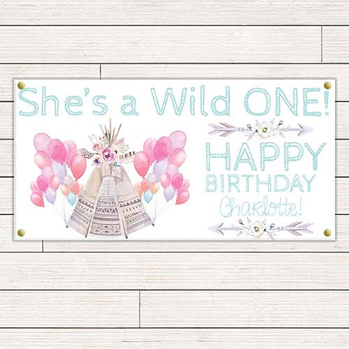 She's A Wild One 2'x4' Banner