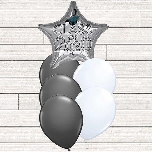 Silver 2020 Grad Balloon Bouquet