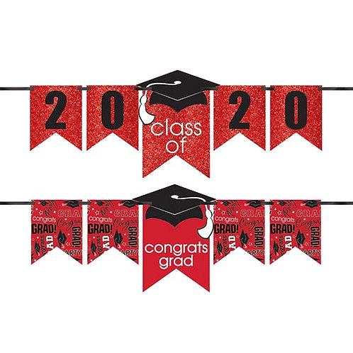 Red Glitter Grad Banner Kit