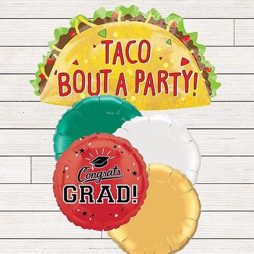 Taco Party Grad Balloon Bouquet