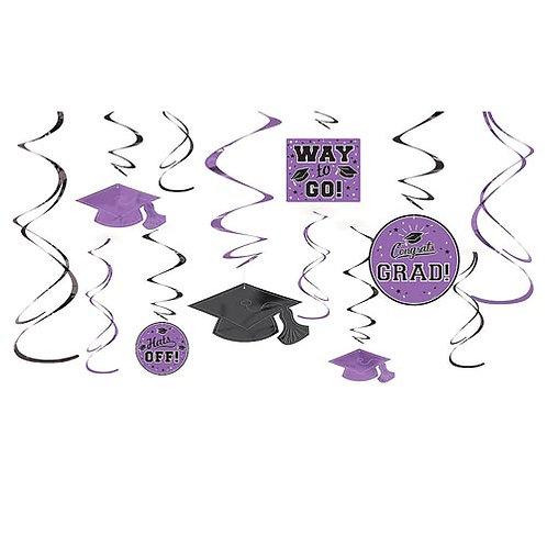 Purple Grad Swirls 12ct.