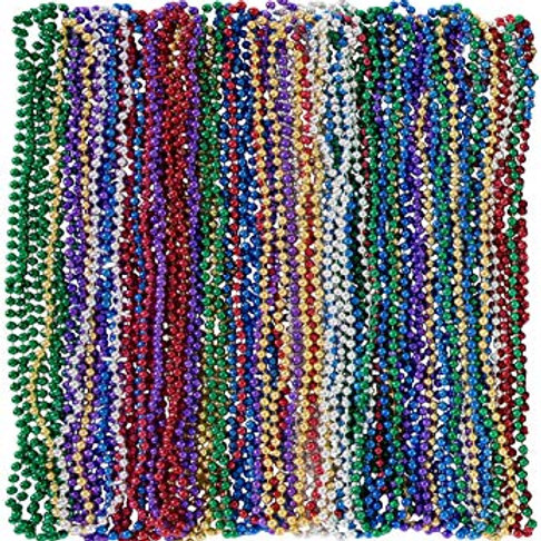 Multicolor Mardi Gras Beads 48ct.