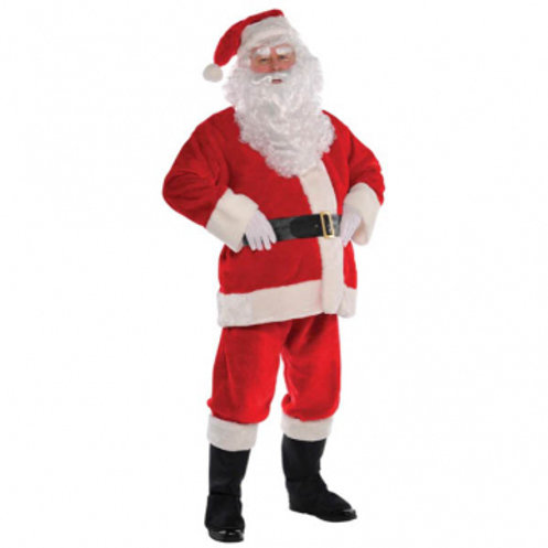 Plush Santa Men's Costume (Good)