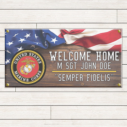 Patriotic Welcome Home 2'x4' Banner