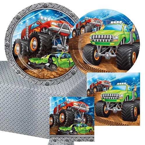 Monster Truck Tableware Kit