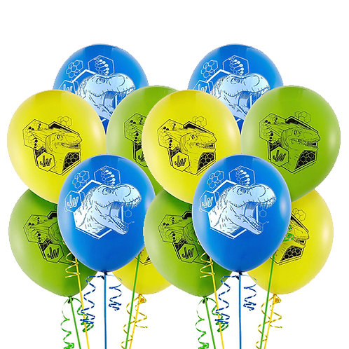 Jurassic World Packaged Latex Balloons 12ct. FLAT