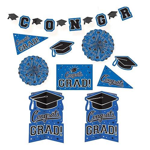 Blue Grad Room Decorating Kit