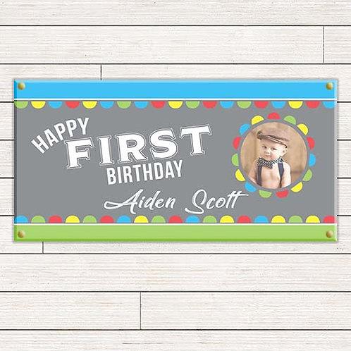 Bright 1st Birthday 2'x4' Banner