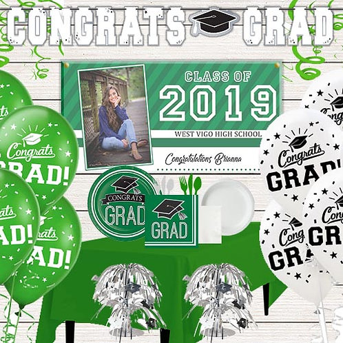 Green Grad Party Kit