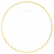 Gold Scalloped Premium Plastic