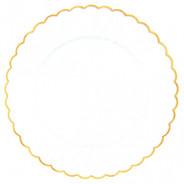 Gold Scalloped Premium Plastic