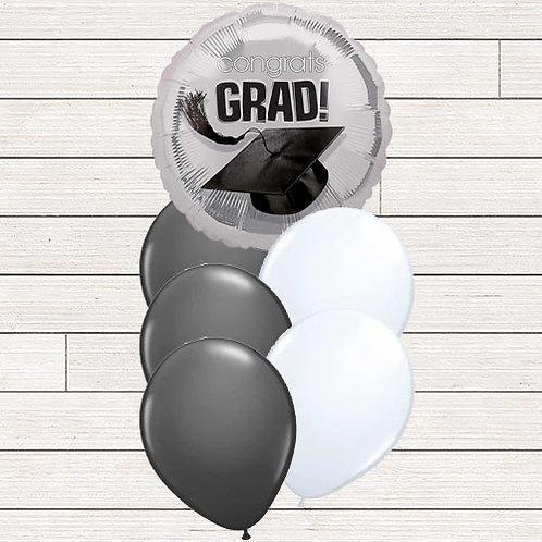 Silver Grad Balloon Bouquet