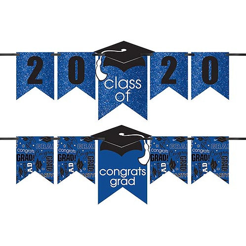 Blue Glitter Grad Banner Kit