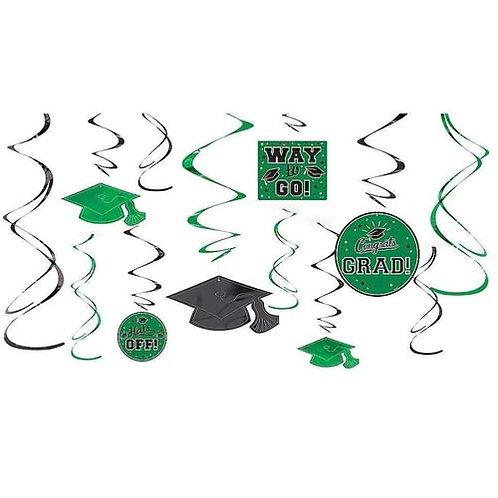Green Grad Swirls 12ct.