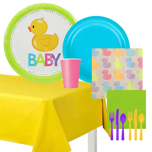 Rubber Duck Baby Shower Value Tableware