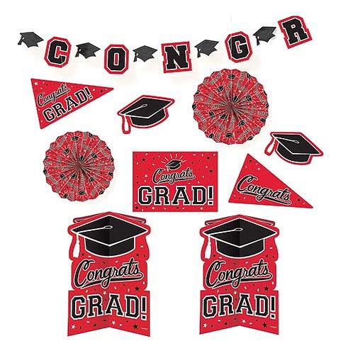 Red Grad Room Decorating Kit