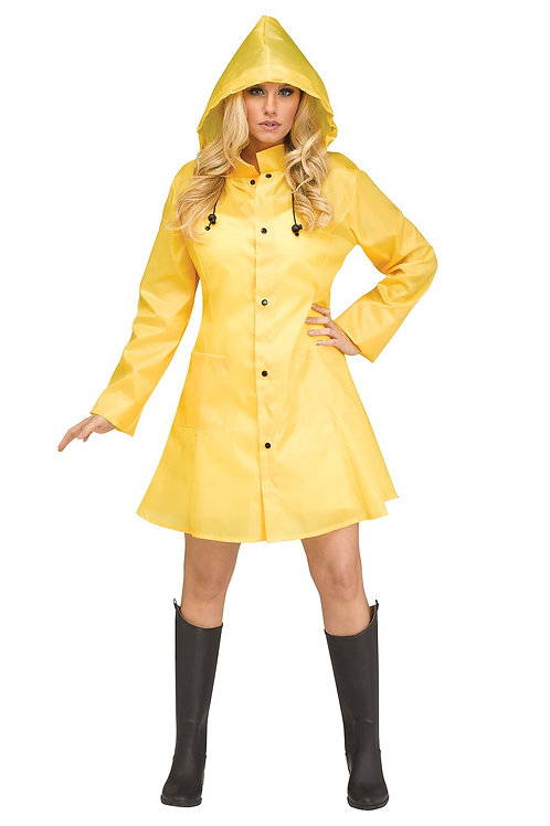Yellow Raincoat Women's Costume