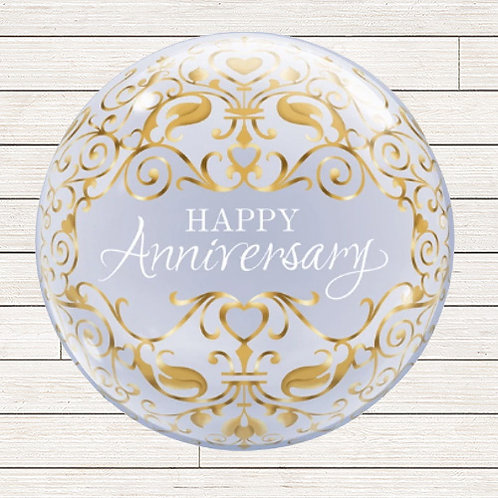 "22"" Anniversary Bubble Balloon"