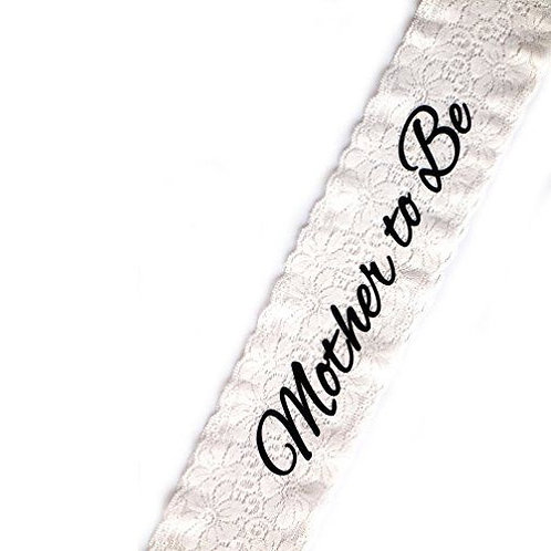 Mother to Be Lace Sash