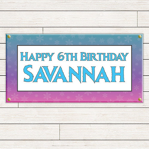 Personalized 2'x4' Frozen Banner