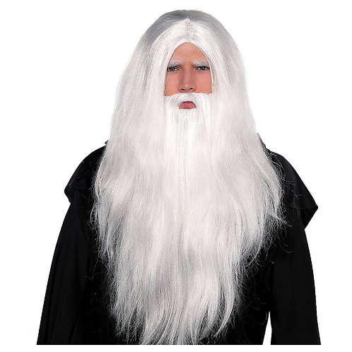 Sorcerer Wig & Beard Set