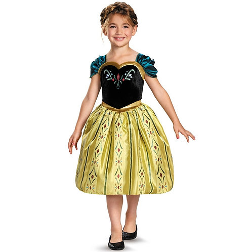 Anna Coronation Frozen Girl's Costume