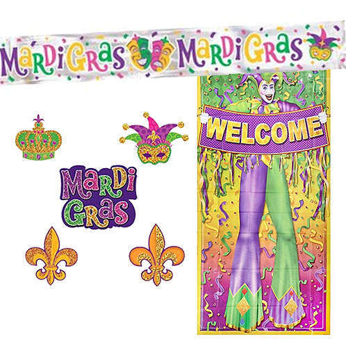 Mardi Gras Mini Decoration Kit