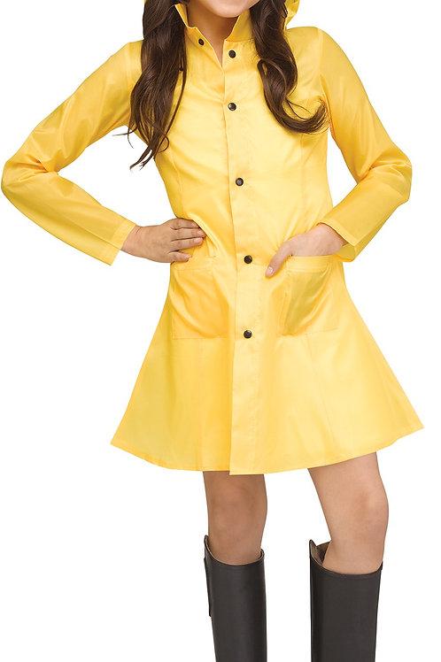 Yellow Raincoat Girl's Costume