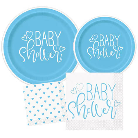 Blue Hearts Baby Shower