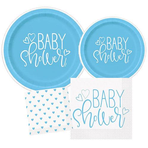 Blue Hearts Baby Tableware Kit