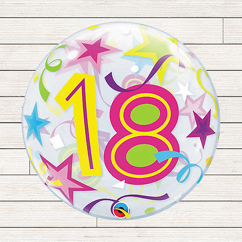 "22"" 18th Birthday Bubble Balloon"