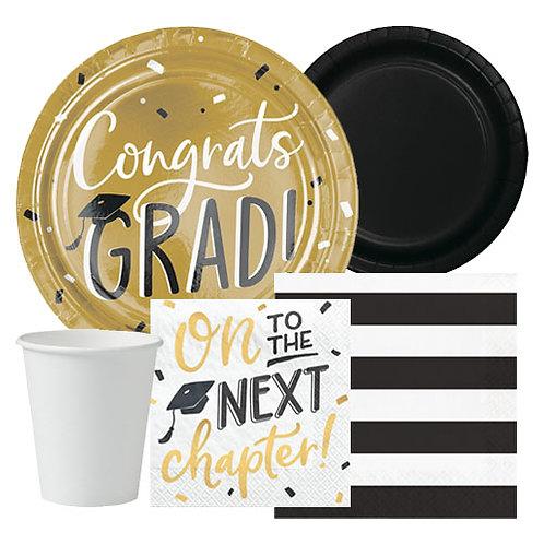 Gold Grad Tableware Kit