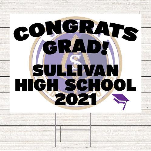 Sullivan Grad Yard Sign