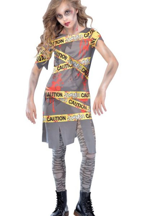 Caution Zombie Girl's Costume